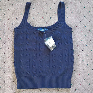 NWT Polo Ralph Lauren Cable Knit Preppy Cami